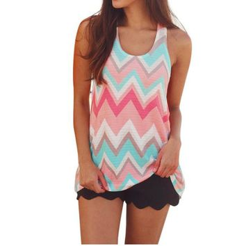 Women's Casual Pullover Sleeveless Tank Top