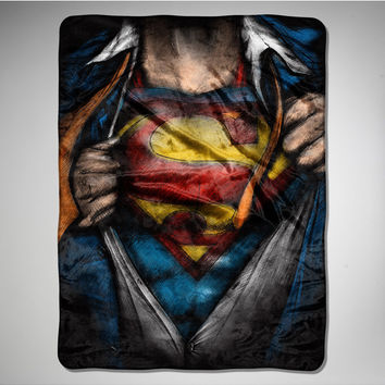 Superman 'Clark Kent' Fleece Blanket