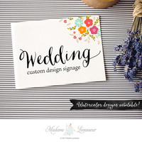 custom wedding signs design floral wedding designs wedding signage thank you note wedding design wedding monogram wedding logo design