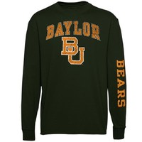 Baylor Bears Arch & Logo Long Sleeve T-Shirt - Forest Green