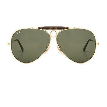 Ray-Ban Shooter Havana Collection in Gold & Green Classic