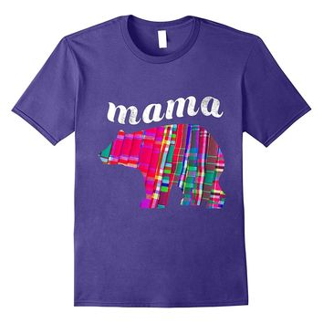 Mama Bear Graphic plaid Gift T Shirt