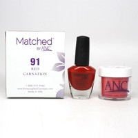 ANC m91 Amazing Nail Concepts Matched kit # 91 Red Carnation