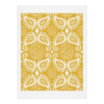 Heather Dutton Plush Paisley Goldenrod Art Print