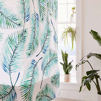 83 Oranges For Deny Watercolor Palms Shower Curtain | Urban Outfitters