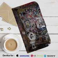 Toilet Graffity Leather Wallet iPhone 4/4S 5S/C 6/6S Plus 7| Samsung Galaxy S4 S5 S6 S7 NOTE 3 4 5| LG G2 G3 G4| MOTOROLA MOTO X X2 NEXUS 6| SONY Z3 Z4 MINI| HTC ONE X M7 M8 M9 CASE