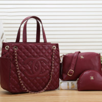 Women Shopping Leather Tote Handbag Shoulder Bag Purse Wallet Set