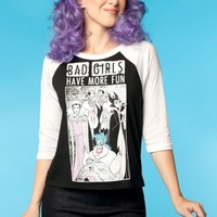 Bad Girls Villains Baseball Tee