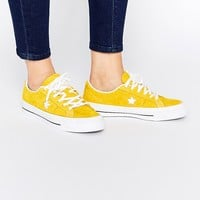 Converse Cons One Star Yellow Brushed Suede Trainers