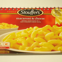 Stouffer's Macaroni And Cheese Upcycled Spiral Bound Notebook