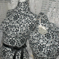 Boutique Dress form and bust to the waist set Life size torso store front decor Damask Bust forms pop-up shop craft booth displays