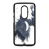 Wolf Song 3 Black Hard Plastic Case for Moto X2 by Balazs Solti
