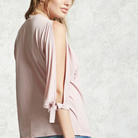 Contemporary Vented-Sleeve Top