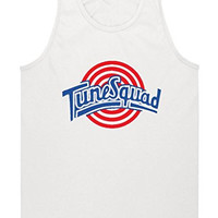 "Space Jam Tune Squad White ""Bugs Bunny"" jersey TANK TOP ADULT MEDIUM"