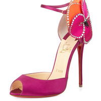 Pensamoi Satin Rose Red Sole Sandal, Pink - Christian Louboutin - Pink