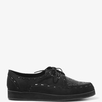 Glittered Faux Suede Oxford Creepers