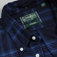 gitman brothers vintage - button down collar shirt blue plaid