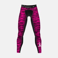 Digital Ripped camo pink compression tights / leggings