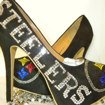 Pittsburgh Steelers Rhinestone Heels