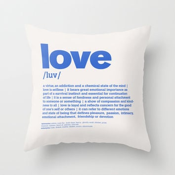 definition LLL - Love 7 Throw Pillow by colli13designs:by Su