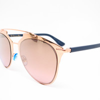 Dior Reflected 3210R Copper Gold Blue Sunglasses
