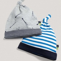 Boys Two Pack Of Patterned Hats