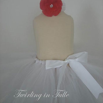 White Newborn/Birthday  Tutu Size 0-24M