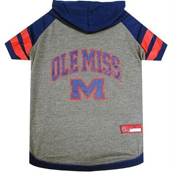 Ole Miss Rebels Pet Hoodie T-Shirt