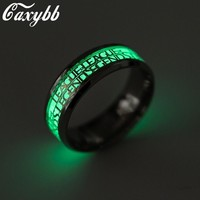 Cexbby League of Legends LOL Popular Games Men's Stainless Steel Ring Glow in the Dark of the Rings Silver Men's Rings Gifts