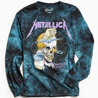 Metallica Justice Dye Long Sleeve Tee - Urban Outfitters