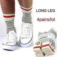 Fcare 8PCS=4 pairs 40 to 45  long leg wool work  socks