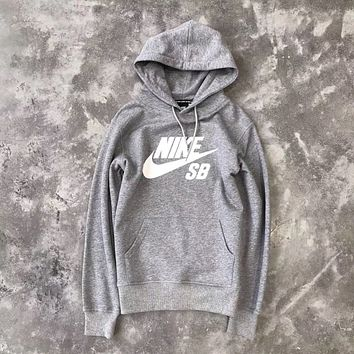Nike SB Woman Men Fashion Hooded Top Sweater Pullover