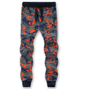 2016 New Arrived Men Cotton Camouflage Sweatpants pantalones hombre Vintage hip hop joggers Outdoors Army joggers Big Size pants