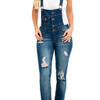 Rip N' Tear Denim Overalls