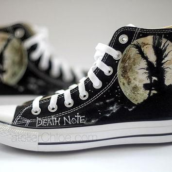 Painted Converse Manga Anime Shoes Personalized Pained Shoes High Top Sneakers Womens