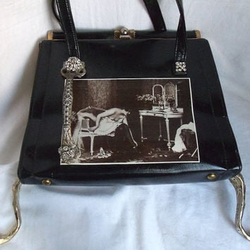 Vintage Couture Purse Avant garde Neo by HopscotchCouture on Etsy