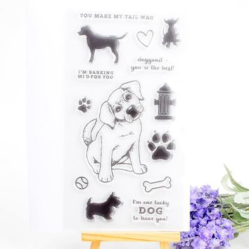 Dog Clear Stamp for Scrapbooking DIY Photo Album Paper Card Making Transparent Silicone Seal  Stamp Decoration Craft Supplies