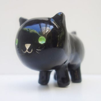 Tiny Black Cat Planter - Tiny Black Cat Planter Suitable for Tiny Plants
