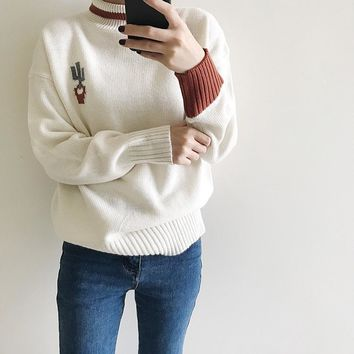 Pullover Winter Stylish Knit Tops Sweater [69652414479]