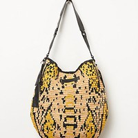 Womens Basilisk Straw Hobo - Natural / Yellow, One