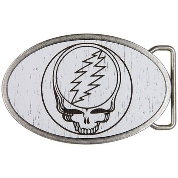 Grateful Dead - Steal Your Face Wood Oval Belt Buckle