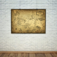 Game of Thrones map, Westeros map, A song of Ice and Fire world map,  Vintage Map Style, Digital print, The Known World Map print