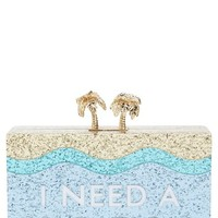 kate spade new york 'i need a vacation' box clutch | Nordstrom