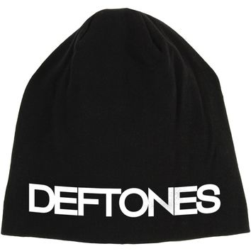 Deftones Men's Logo Beanie Black