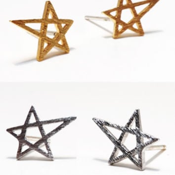 Abstract Star Earrings