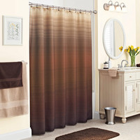 Walmart: Better Homes and Gardens Ripple Ombre Fabric Shower Curtain