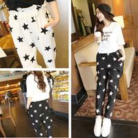 Summer new fashion starlet wild low-waist trousers