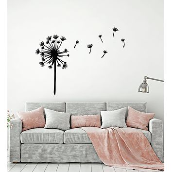 Vinyl Wall Decal Dandelion Flower Floral Art Garden Girl Room Stickers Mural (g872)