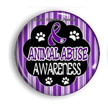 Animal Abuse Awareness Snap Charm 20mm for Snap Charm Jewelry