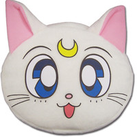 Bag Artemis Plush Sailor Moon anime Cosmetic Bag White cat face zip pouch